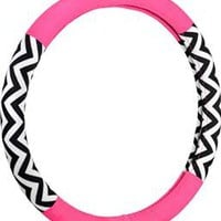 Bell Automotive 22-1-97179-9 Chevron Color Block Pink Hyper-Flex Core Steering Wheel Cover