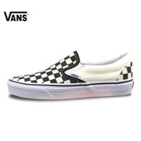 Vans Slip on Original Skateboarding Shoes Outdooor Black-And-White Checkerboard Classic VN-0EYEBWW For Men 40-44