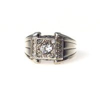Topaz Men's Ring in Sterling Silver