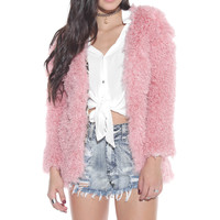 Pink About It Fur Coat