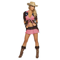 2016 New Pink Country Cowgirl Adult Outfit Circus Costume Halloween Masquerade Sexy West Cowboy Uniforms Role Play Clothes