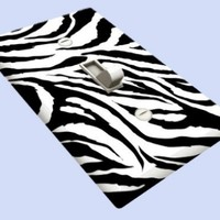 Jagged Zebra Skin Print Decorative SwitchplateCover
