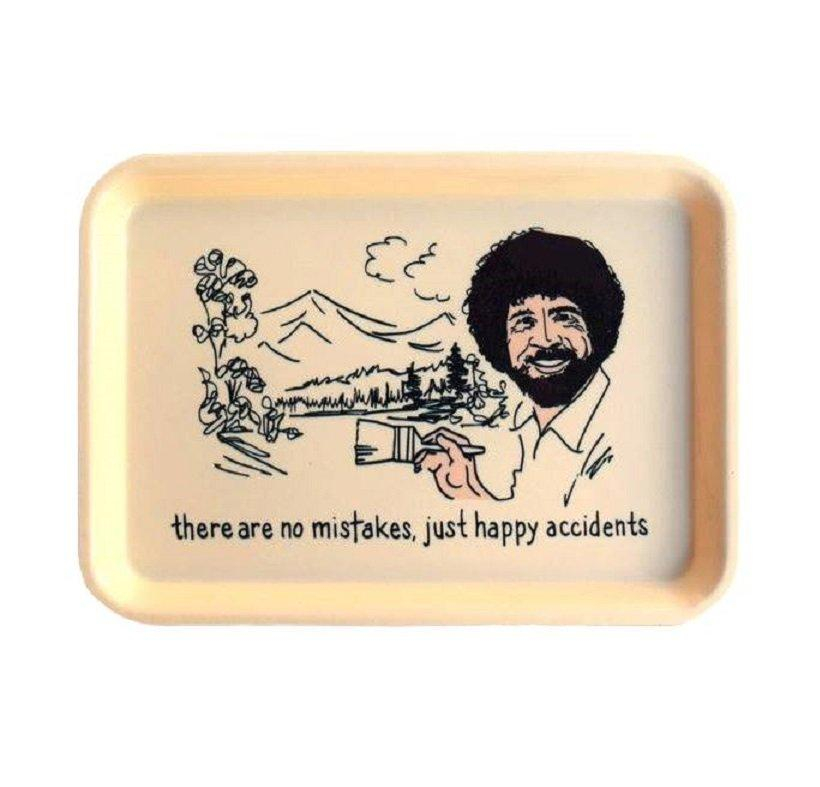 Image of There Are No Mistakes Just Happy Accidents Bob Ross Trinket Tray