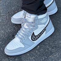 Dior x NIKE AIR Jordan 1 AJ1 force 1 AF1 high help women men sneakers Shoes