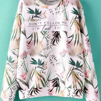 Tropicals Print Long Sleeve Sweatshirt