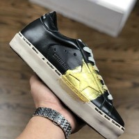Kuyou Fa19630 Golden Goose Hi Star Ggdb 18ss Leather Sneakers Gold Stars