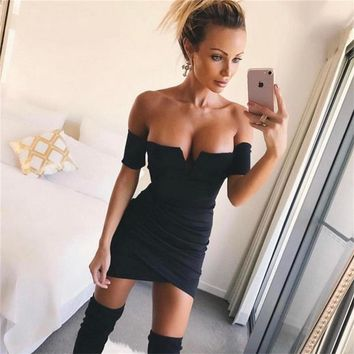 Strapless Backless One Piece Dress [11828930767]