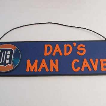 Detroit Tigers Baseball Dad's Man Cave Sign - Father's Day - Personalized Kids Room Decor