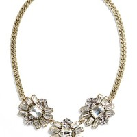 Junior Women's BP. Crystal Cluster Statement Necklace