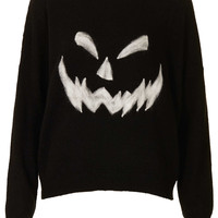 Knitted Pumpkin Face Jumper - New In This Week - New In - Topshop