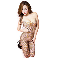 Women Sexy Costumes Wrapped Chest Sex Products Toy Leopard Sexy Lingerie Sexy Girl Lenceria