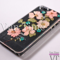 Pressed Flower case, Consolida ajacis, iPhone 5 case, iPhone 4 case, iPhone 4s case, iPhone 5s case, iPhone 5c case Galaxy S4 S5 Note 3, 074