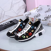 D&G DOLCE & GABBANA Women's Flyknit Fashion Sneakers Shoes