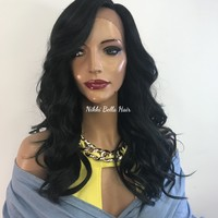 Green Black lace front hair wig  418 12 ON SALE