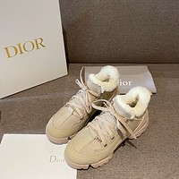 DIOR  Women Casual Shoes Boots fashionable casual leather Women Heels Sandal Shoes12