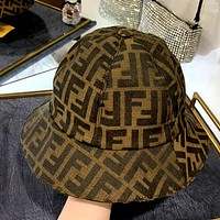 Fendi High Quality Double F Jacquard Canvas Fisherman Hat