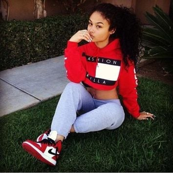 Hats Red Long Sleeve Tops Hoodies [415608471588]