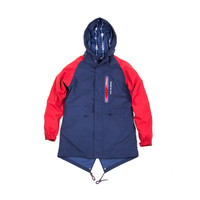 KITH Academy Exeter Fishtail Jacket - Navy / Red
