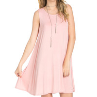 Sleeveless Swing Dress Blush