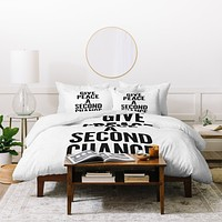 Nick Nelson Give Peace A Second Chance Duvet Cover