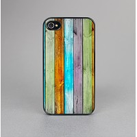 The Vintage Colored Wooden Planks Skin-Sert Case for the Apple iPhone 4-4s