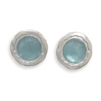 Round Ancient Roman Glass Earrings