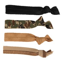 Glam Bands Camo and Neutral Hair Ties
