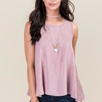 Ginnie Mineral Wash Open Cape Back Tank