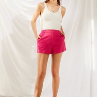 Urban Renewal Remnants High-Rise Linen Short | Urban Outfitters