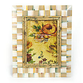 MacKenzie-Childs - Parchment Check Picture Frame - Saks Fifth Avenue Mobile