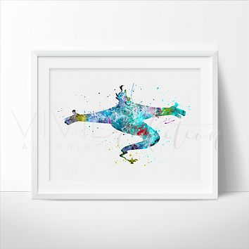 Genie, Aladdin Watercolor Art Print