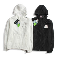Tide brand RIPNDIP small cat classic autumn and winter double-layer windbreaker breathable skin clothing outdoor female coat tide