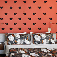 """Set of 150 Mickey Mouse Heads 2"""" x 2"""" Polka Dot Wall Decor Sticker Decal Any Room Any Surface st-002"""