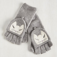 Quirky Mittens Inspired by Kittens Convertible Gloves by ModCloth