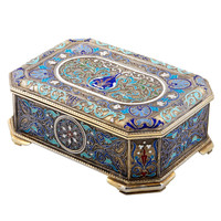 Russian Enamel & Silver Box