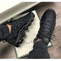 NIKE AIR VAPORMAX PLUS Black Samurai Atmosphere Pad Running Shoes F/A