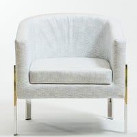 Rylee Smoke Armchair-Stainless Stainless Steel Frame