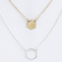 Honeycomb Layer Necklace