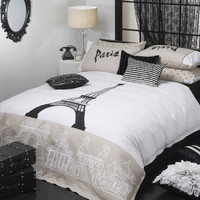 Logan and Mason PARIS LINEN King Size Bed Doona Duvet Quilt Cover Set Brand New