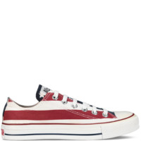 Converse - Chuck Taylor Stars and Bars - Low - White/Red