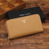 DCCK THE PRADA Zipper bag Women Leather Purse Wallet G-YJBD-2H