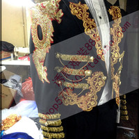 2015 man suit blazer Magic royal laciness tuxedo male married formal dress for singer dancer star performance show in stage bar