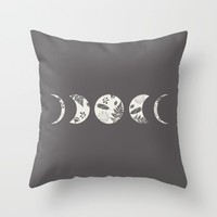 Lunar Nature Throw Pillow by Bohemian Gypsy Jane