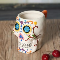 Funny skeleton 3d skull mug cute ceramic tea water coffee milk