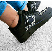 Dior x Nike Air Force 1 Print Contrast Shoes Women Men Trending Shoes Black