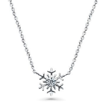 Sterling Silver CZ Snowflake PendantBe the first to write a reviewSKU# n1350-01