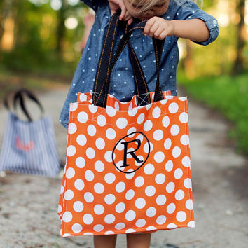 Personalized Trick or Treat Bag, Monogrammed Trick or Treat bag, Halloween bag