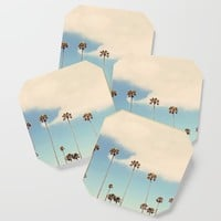 Palm trees Coaster by sylviacookphotography