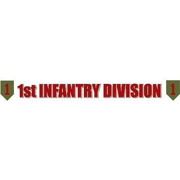 Big Red One 1st Inf. Div. Clear Window Strip