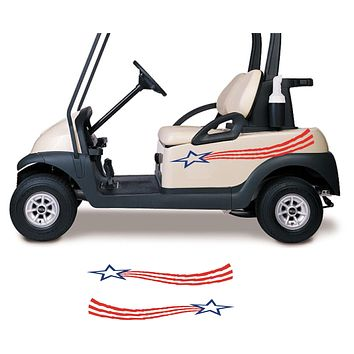 Stars and Stripes USA Side By Side ATV Golf Cart Decals Accessories Go Kart Stickers GC307